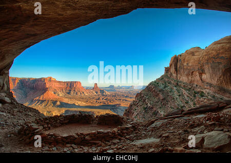 Lost Kiva Canyonlands National Park - Stock Image