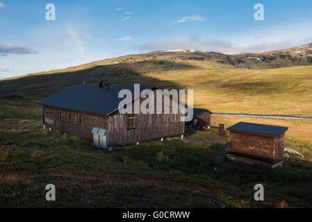 Viterskals hut, Kungsleden trail, Lapland, Sweden - Stock Image