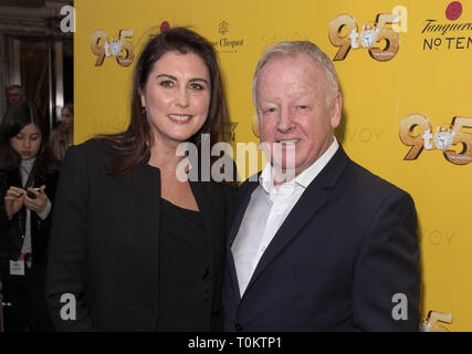 Celebs attend gala evening for Dolly Parton's 9 to 5 The Musical  Featuring: Les Dennis Where: London, United Kingdom When: 17 Feb 2019 Credit: Phil Lewis/WENN.com - Stock Image
