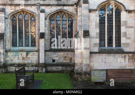 Side wall of St George's Church, Stamford, Lincolnshire, England - Stock Image
