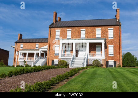 Greeneville, TN, USA-10-2-18: The Dickson-Williams Mansion  was built in Federal style in 1821. - Stock Image