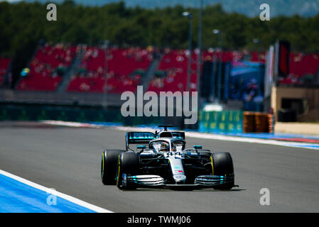 Marseille, France. 21st Jun 2019. FIA Formula 1 Grand Prix of France, practise sessions; Lewis Hamilton of the Mercedes Team in action during the free practice 2 Credit: Action Plus Sports Images/Alamy Live News - Stock Image