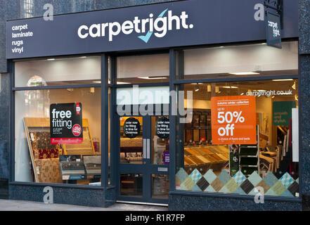 Exterior Of A Carpetright Shop - Stock Image