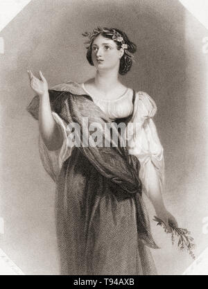 Perdita.  Principal female character from Shakespeare's play A Winter's Tale.  From Shakespeare Gallery, published c.1840. - Stock Image