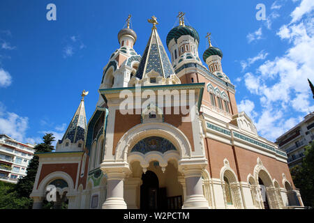 The Russian Orthodox Cathedral Of Saint Nicholas In Nice, France, Europe - Stock Image
