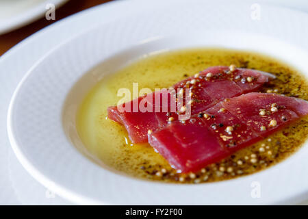marinated tuna fish - Stock Image
