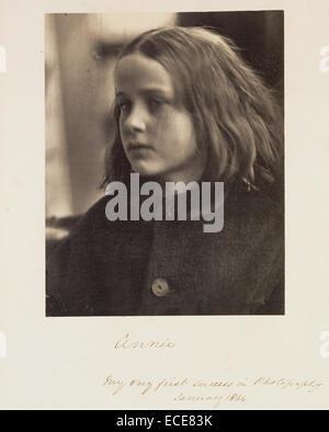 Annie; Julia Margaret Cameron, British, born India, 1815 - 1879; Freshwater, England, Europe; January 1864; Albumen - Stock Image