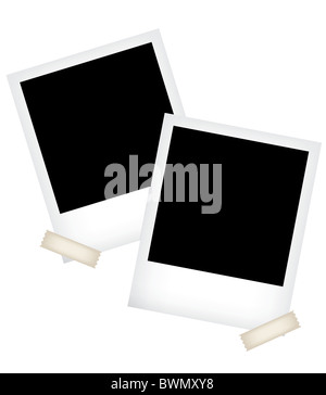 Empty retro photo frames - Stock Image