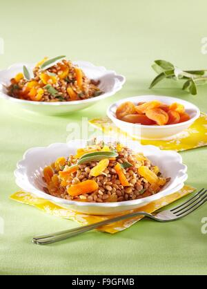 Lentil with dried apricots - Stock Image