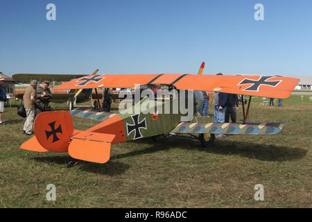 SS-D1 airplane replica. N921SS. World War 1 Dawn Patrol Anniversary Rendezvous event. The National Museum of the United States Air Force, Wright Patte - Stock Image