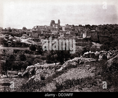 Bethany, General View From The East, Palestine, 1862, by Francis Bedford - Stock Image