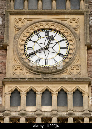 Bristol Temple Meads Railway Station clock, Bristol - Stock Image