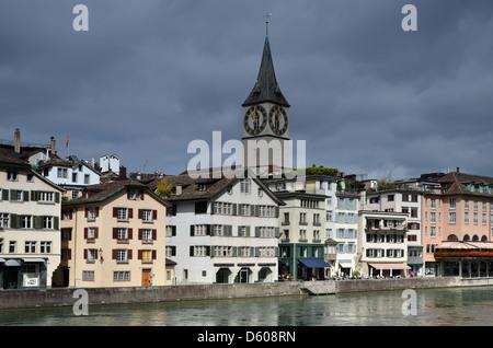 Zurich in Switzerland, medieval city - Stock Image