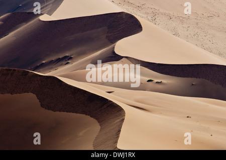 Aerial View of Sand Dunes in Sossusvlei, Nabib-Naukluft National Park, Namib Desert, Namibia, Africa - Stock Image
