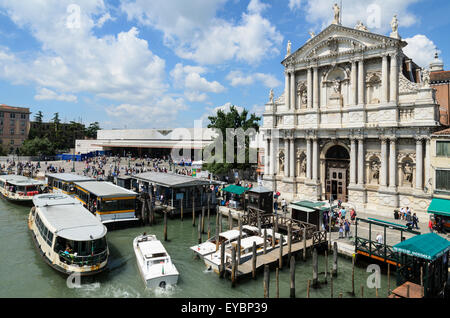 The Carmelite Church of Santa Maria di Nazareth, Venice. It is also known as the Church of the Scalzi. - Stock Image