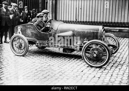 1922 Aston Marin 1.5 litre Strasbourg. Clive Gallop, French GP at Strasbourg. - Stock Image
