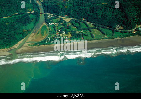 Aerial Images of the Costa Rica Coastline - Stock Image