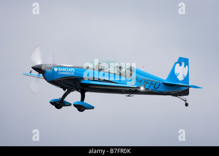 The Excel display team in their new Barclays Commercial colour scheme - Stock Image