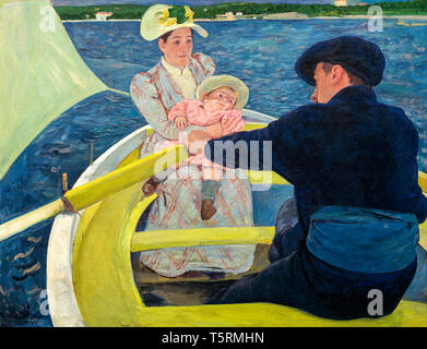 Mary Cassatt, The Boating Party, painting, c. 1893 - Stock Image