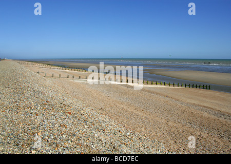 The Shingle Beach at Winchelsea, East Sussex, UK - Stock Image