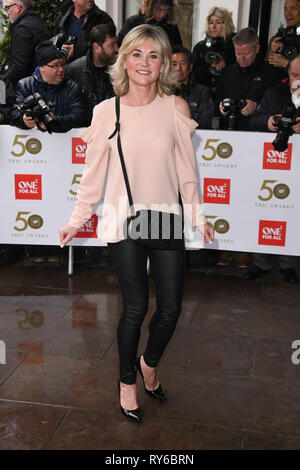 LONDON, UK. March 12, 2019: Anthea Turner arriving for the TRIC Awards 2019 at the Grosvenor House Hotel, London. Picture: Steve Vas/Featureflash Credit: Paul Smith/Alamy Live News - Stock Image