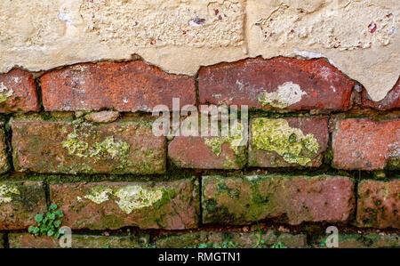 Old damaged brick work - Stock Image