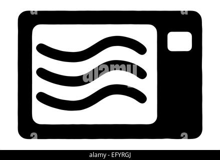microwave cooker symbol - Stock Image