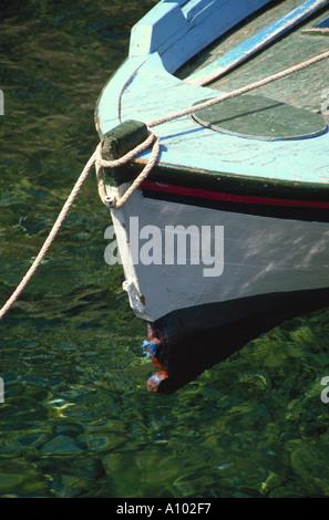 Boat Santorini Greece - Stock Image