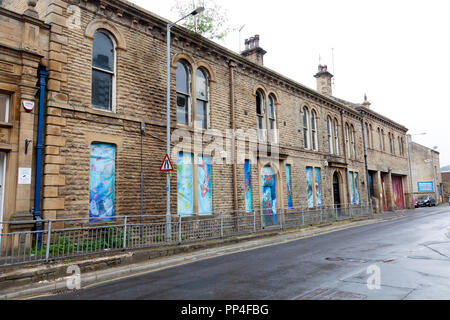 Former Council buildings, Sowerby Bridge, West Yorkshire - Stock Image