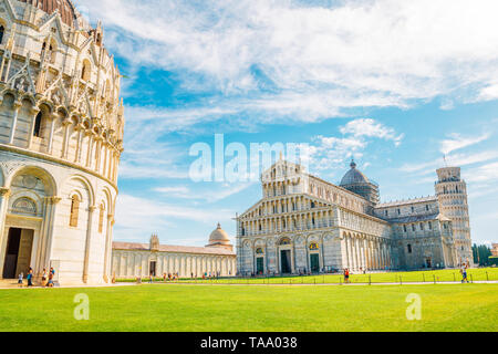 Pisa Cathedral and Piazza del Duomo in Italy - Stock Image