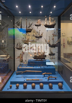 exhibits at the museum of interoceanic canal in panama city - Stock Image