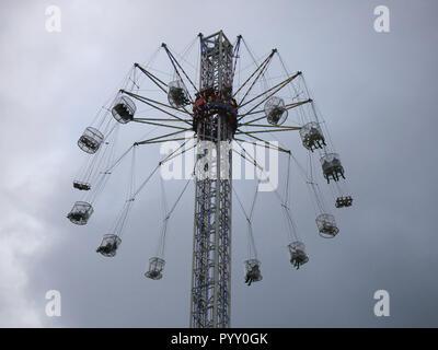 Starflyer fairground ride on the South Bank near London eye - Stock Image