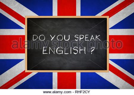Do you speak English - Stock Image