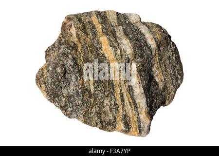 Schist rock sample - Stock Image