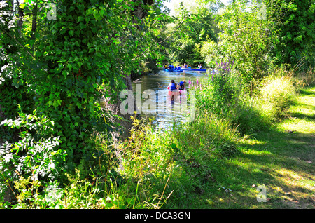 Canoe on la Boutonne in Saint Jean d'Angely, France,Charente Maritime - Stock Image