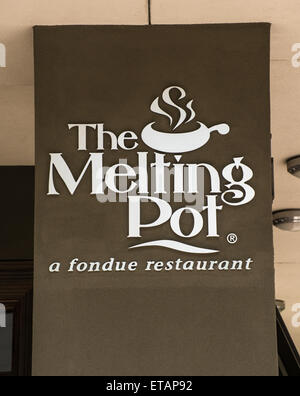 Melting Pot Fondue Restaurant - Salt Lake City, Utah - Stock Image