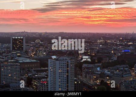 Berlin after sunset - Stock Image
