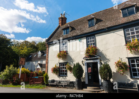 Pig and Abbot Public House formerly known as the Derby and Joan, Abington Pigotts, Cambridgeshire, UK - Stock Image