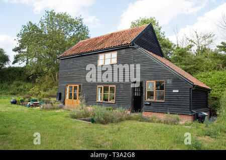 The Barn, new build house, Bromeswell Suffolk England Britain UK - Stock Image
