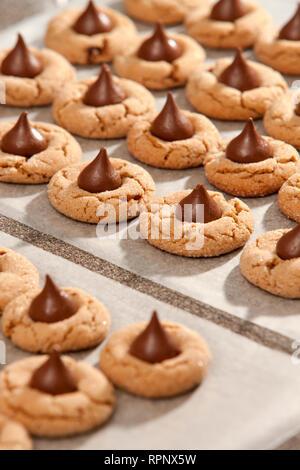 Peanut Blossom Cookies - Stock Image