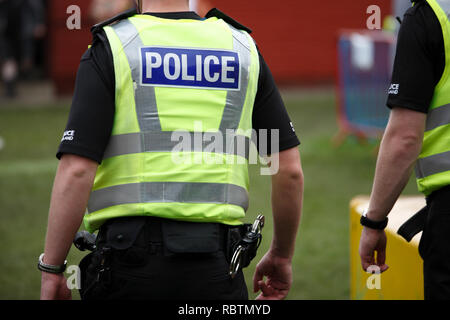 policemen at the Scottish Highland Games - Stock Image