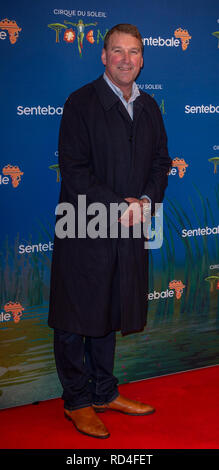 London, United Kingdom. 16 January 2019. Sir Matthew Pinsent arrives for the red carpet premiere of Cirque Du Soleil's 'Totem' held at The Royal Albert Hall. Credit: Peter Manning/Alamy Live News - Stock Image