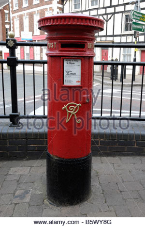 Victoria Regina Post Box in Leominster Herefordshire - Stock Image