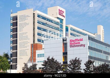 Sheffield Hallam university Sheffield - Stock Image