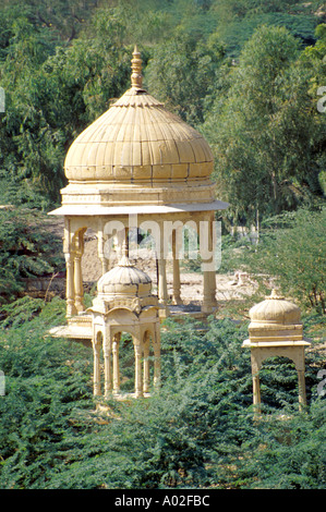 Hindu Temples, Jaisalmer, Rajasthan, India - Stock Image