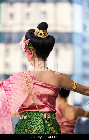 Traditional Thai dancing - Stock Image