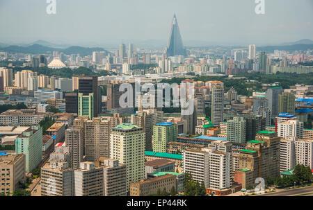 Pyongyang city centre, North Korea, DPRK - Stock Image