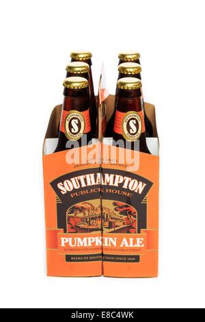 A six pack of Southampton Publick House Pumpkin Ale - Stock Image