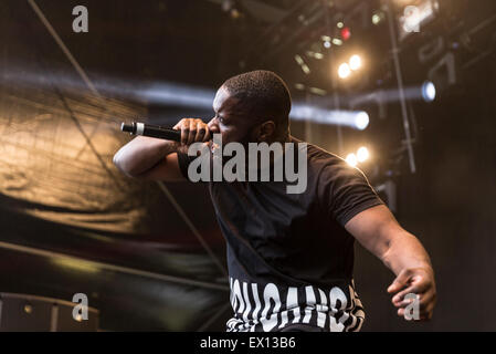 London, UK, 3rd July 2015. Lethal Bizzle, New Look Wireless Festival, Finsbury Park  Credit:  Robert Stainforth/Alamy - Stock Image