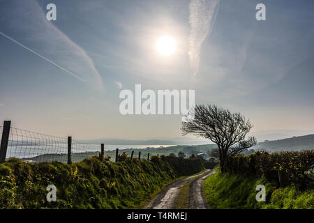 Ardara, County Donegal, Ireland. 19th April 2019. Temperatures hit 16 centigrade on the north-west coast making the day the hottest of the year so far. Credit: Richard Wayman/Alamy Live News - Stock Image